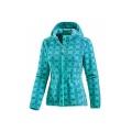 Manteau en molleton imprimé pour femme avec fermeture à glissière