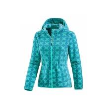 Женское флисовое пальто с принтом на молнии