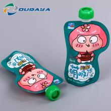 Kundenspezifische Kunststoffverpackung Getränkebeutel mit Ausguss