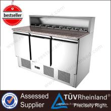 Équipement de cuisine SS304 Sandwich salade bar réfrigérateur vente