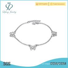 Trendy prata tornozelo correntes pulseira, tornozeleiras jóias de alta qualidade