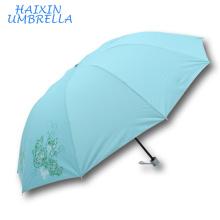 Venta a granel fabricante de China de calidad superior modificado para requisitos particulares del precio de fábrica verde paraguas monzón de la flor del color verde paraguas personalizados