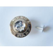 Botões de metal rebite de logotipo de custome alta qualidade