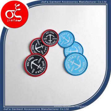 Parche tejido precio de fábrica con parche de la ropa del logotipo de Lockrand / Fabric