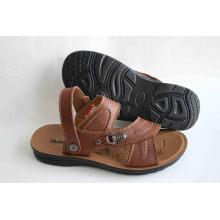 Chaussures de plage pour hommes de qualité avec dessus en cuir (SNB-14-014)