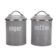 Recipiente redondo para almacenamiento de azúcar y café