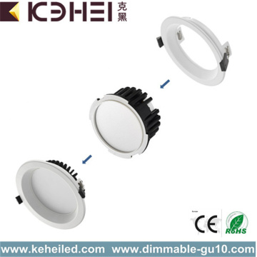 12W Dimmable LED Downlights 4 pulgadas blanco