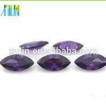 amethyst dark purple marquise loose cz stones cubic zirconia jewelry