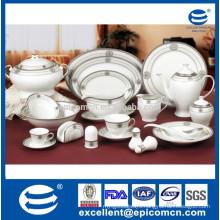 royal silver design porcelain dinner set oval porcelain plates