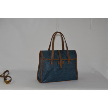 Blue Tyvek com PU Designer Handbags Zxk1504