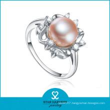 Elegant Sterling Silver Pearl Ring (SH-R0165)