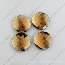 Dz-1041 Topaz Flat Back Round Glass Beads for Garment