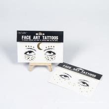New custom face art tattoo sticker face makeup metal tattoo sticker