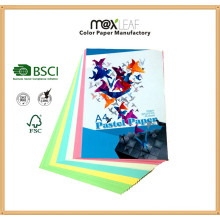 Papier de copie coloré pour livre de texte Papier couleur brut Direct Factory