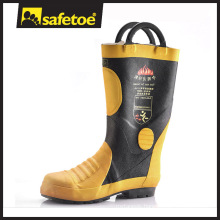 Fire fighter boots,insulated rubber boots,fire resistant safety boots H-9018