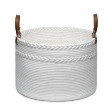Dual Braided Cotton Rope Laundry Storage Basket
