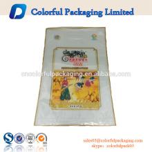 O costume imprimiu 5 sacos plásticos do arroz do quilograma para embalar