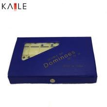 Jogo personalizado do dominó da melamina com caixa do PVC