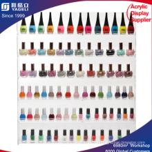 6 Estantería PRO Clear Acrylic Nail Polish Rack / Salón Mural Montado Organizador Pantalla