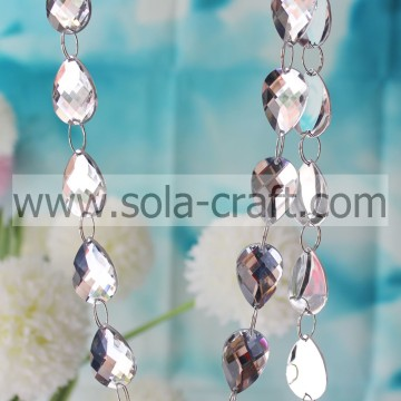 Mirror Teardrop Beaded Garland for Chandelier Prisms