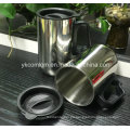 Taza de café de viaje de acero inoxidable con mango (CL1C-M102)