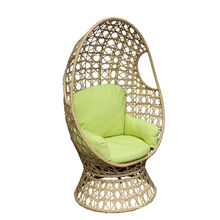 Comfortable Wicker Furniture PE Wicker Swivel Relax Chair Hanging Chair Outdoor Furniture Use Bulk Packing 2 Years Steel Modern