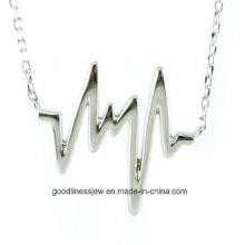 Топ продаж и моды Горячая роза позолоченный Heart Beat ожерелье Heartbeat заявление ожерелье N6633