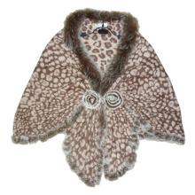 Леди мода хаки шерсть леопарда шаль (YKY4142-4)
