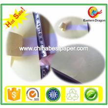 Papel adesivo traseiro de crack branco