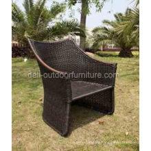 Outdoor High Back Modern PE Rattan Garden Chair