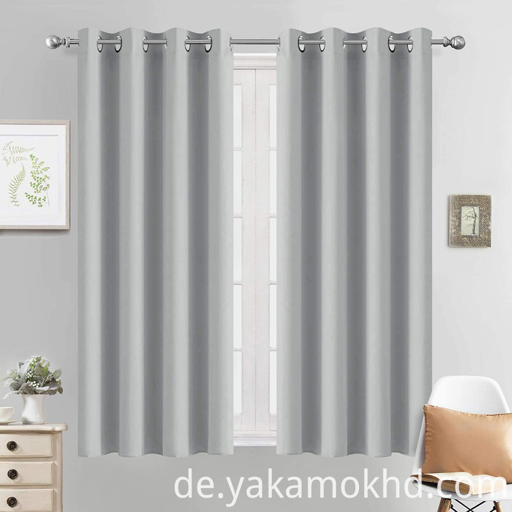 52-54 Light Grey Blackout Curtains