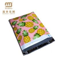 China Fábrica de Moda Logotipo Impressão Personalizado Rosa & Amarelo Colorido Abacaxi Designer 10 X 13 Polegadas Por Atacado Poli Mailers
