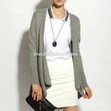 16STC8098 cashmere wool knit long open cardigan