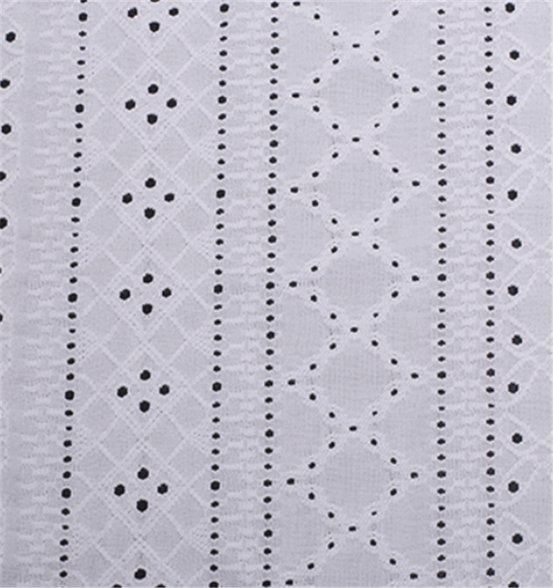 Embroidered knitted jacquard fabric. 1