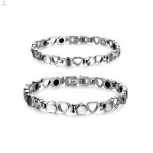Casais românticos amam pulseira de coração, combinando pulseiras casal jóias