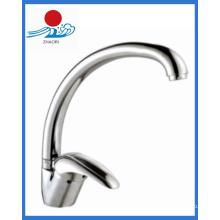 Einhand-Küchenarmatur Messing Wasserhahn (ZR21609)