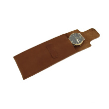 Personalized Small Leather Pouch Genuine Leather Watch Case Single Travel Leather Watch Case