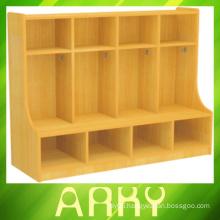 Kindergarten Wooden Furniture Coat Locker