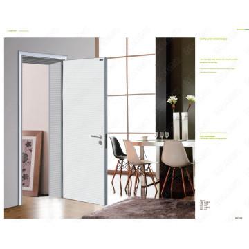 Porta de madeira moderna do quarto, porta de madeira de Meranti Dubai, projetos do port