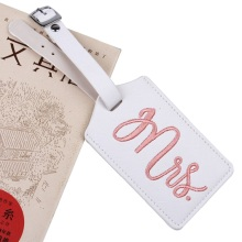 Label Embroidery Luggage Tag Bag Travel Name ID