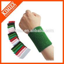 2015 Мужская оптовая красочные спортивные махровые хлопка пользовательских запястье sweatbands