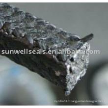 Produit d'emballage en graphite avec des coins en fibre de carbone