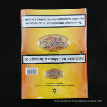 Moisture Barrier Tobacco Bag with Zip Lock Resealable (MS-TB008)