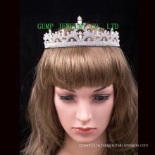 Свадебная тиара с бриллиантовой блестящей короной