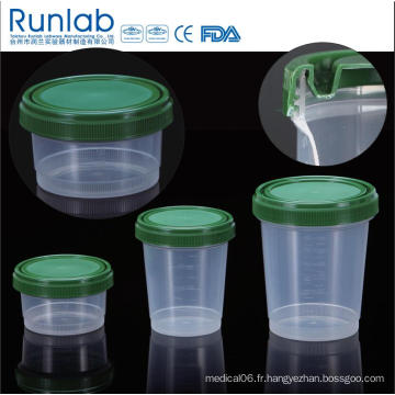 Conteneurs d'échantillons d'histologie de 250 ml enregistrés par la FDA