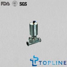 Пневматический мембранный клапан санитарной нержавеющей стали
