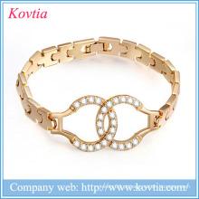 Round Stones Design Pulseira pulseira de amor 1 grama jóias de ouro ganhar dinheiro em linha algemas