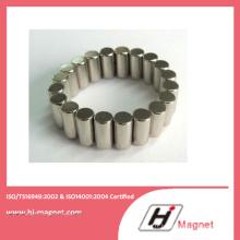 Aimant de NdFeB de cylindre personnalisé de haute qualité pour moteur