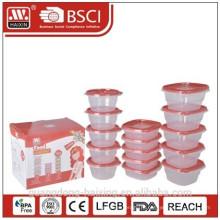 Новые функции! Пластиковая посуда микроволновой продовольствия контейнер (15шт)