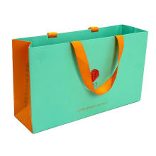 Customized colors private label gift garment kraft paper bag paper shopping bag